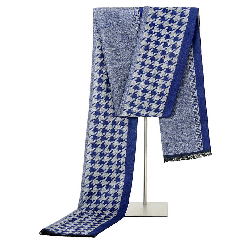 Newest Cashmere Houndstooth Scarf Man Winter Brand Scarf Men Fashion Designer Shawl Bussiness Casual Scarves drop shopping