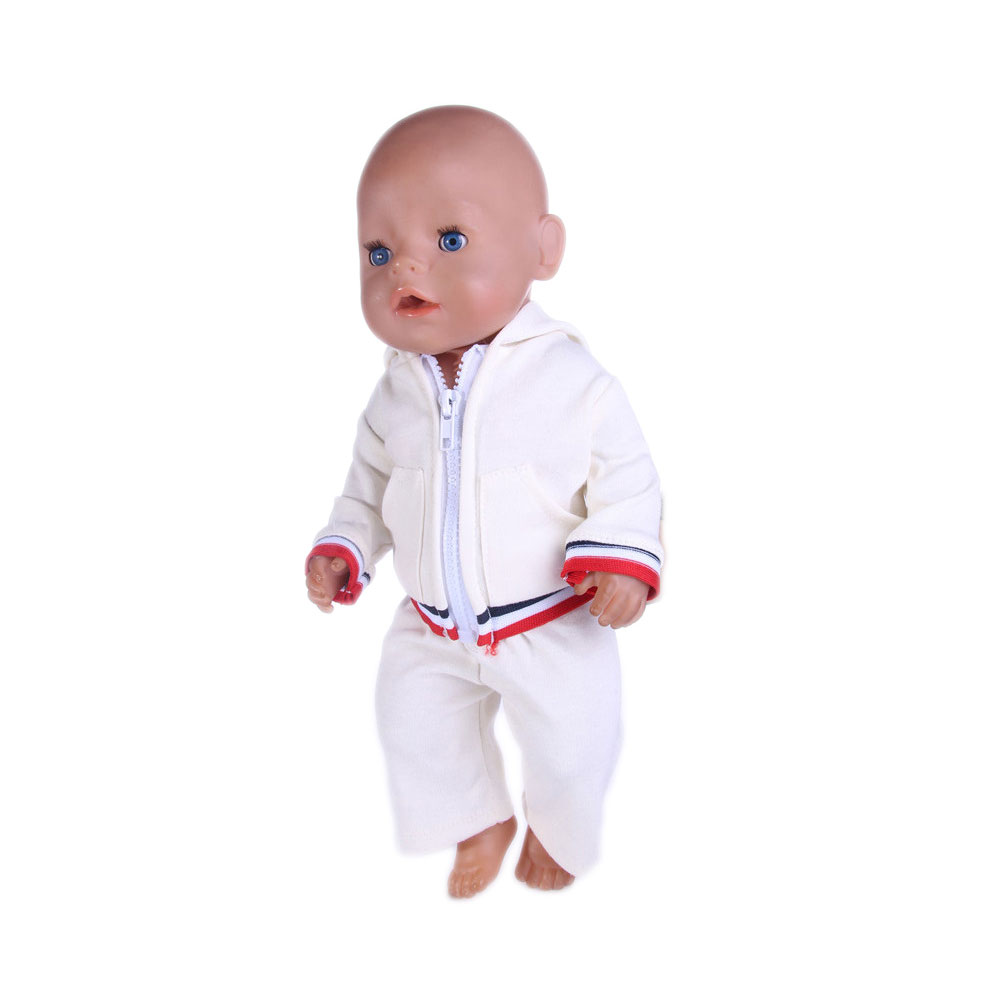 2017 sport set Doll Baby Born Clothes Wear fit 43cm Zapf doll Children best Birthday Gift n578 2color choose leisure dress doll clothes wear fit 43cm baby born zapf children best birthday gift only sell clothes