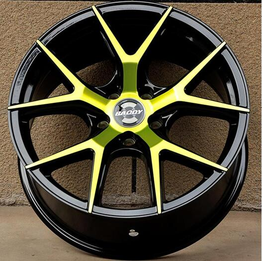 18X8.0 5X108 Yellow and White Beautiful Car Alloy Wheel