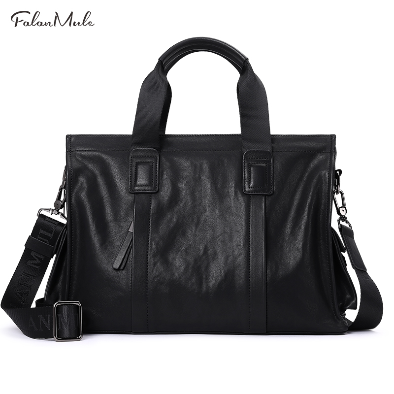 2017 New Arrival Luxury Briefcase Luxury Men Bag Brand Genuine Leather Bag Fashion Messenger Bag Famous Brand Business Handbag