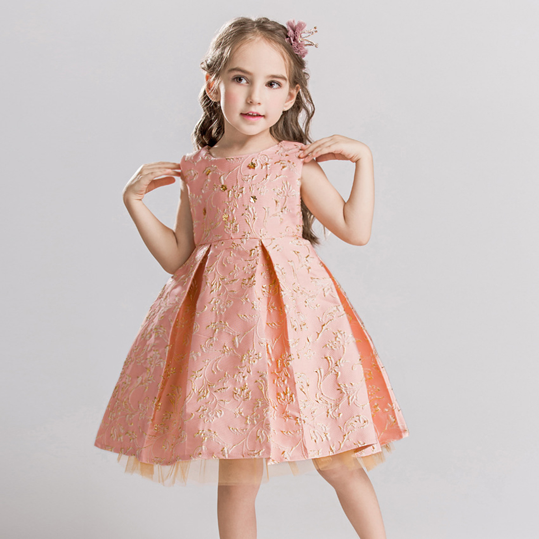 10c480ef919 Baby Girls Flower Formal Floral Special Occasion Wedding Bridesmaid Party  Ball Gowns Graduation Dinner Prom Dresses Kids Clothes-in Dresses from  Mother ...