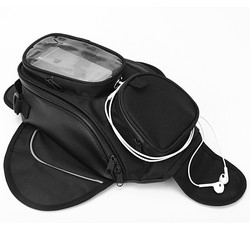 New Waterproof Motor Tank Bag Black Oil Fuel Tank Bag Magnetic Motorbike Saddle Bag Single Shoulder Bag Motorcycle Backpack
