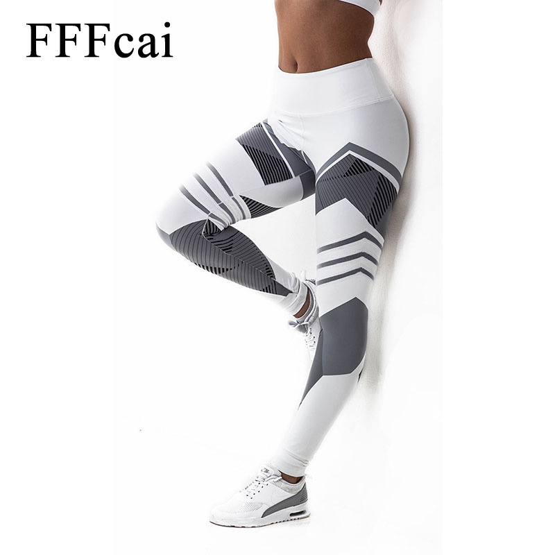 FFFcai 2018 Sexy Fitness Yoga Sport Pants Push Up Women Sport Leggings Gym Running Tights Pants High Waist Pants Joggers Trouser