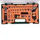 49 шт. набор инструментов домашний авторемонтный комплект гаечный ключ отвертка бит трещотка ремонтный комплект - 5