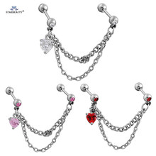 1 pc น่ารัก Bijoux Heart Tragus Piercing Helix (China)