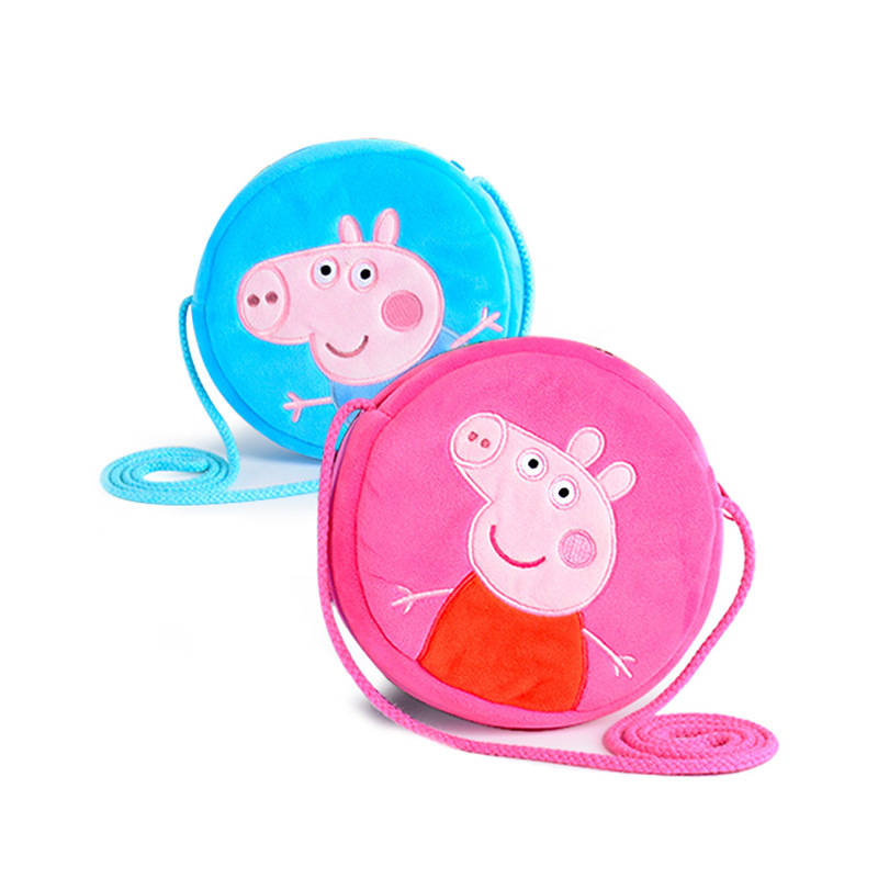 Peppapig Pepa George Pig Plush Toys Kids Girls Boys Kawaii Kindergarten Papa Pig Bag Bac ...