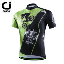 Devil Green Bike Jerseys Cheji Men Cycling Shirts Anti-slip Bicycle Jackets Breathable S-XXXL