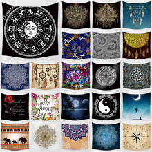 Unicorn mandala tiger  hanging wall tapestry home decoration  wall art tapestry bedroom tapestry size 1500mm*1500mm цена 2017