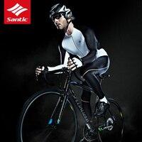 Santic высокое качество Для Мужчин велосипедные майки Экстрим Fit MTB дорожный велосипед с длинным рукавом езда Джерси полиэстер Открытый велоси