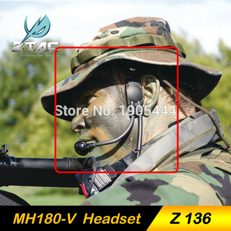 Z TAC Z Tactical Military Headset MH180 V Bone Conduction Tactical Earphone For Shooting Hunting Airsoft