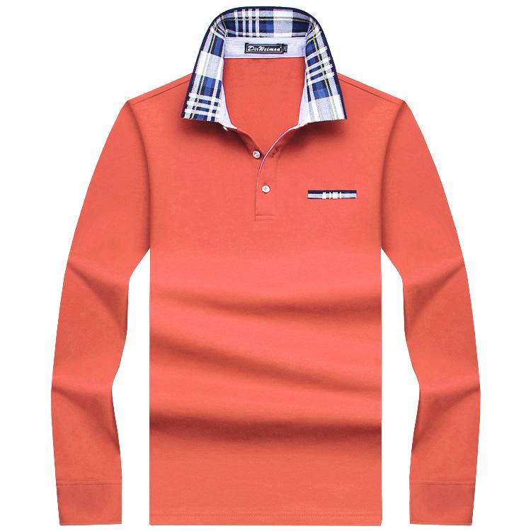 6ea7b2bae8 2018 Casual algodón hombres Polo Camisa gruesa manga larga sólido ...