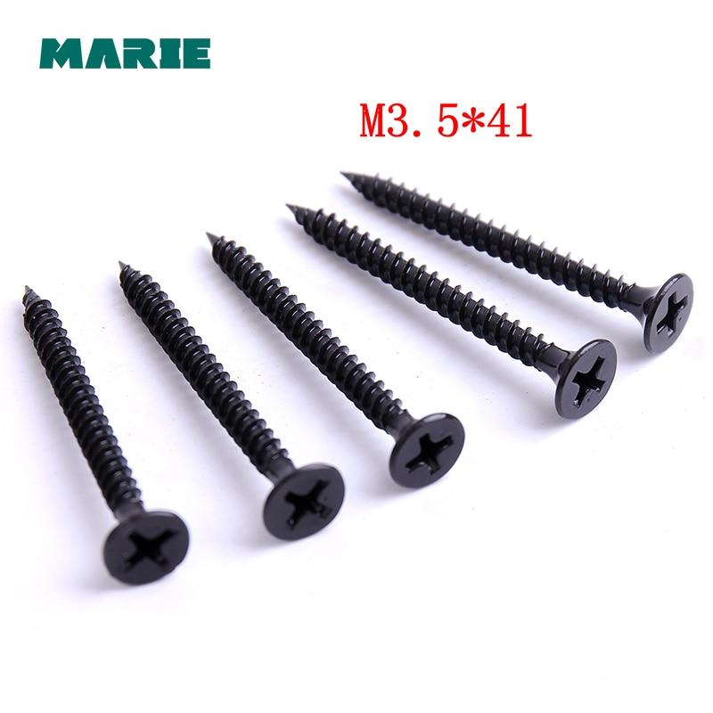 20 pièces couleur noire fer vis autotaraudeuses tête plate fraisée petites vis M3.5