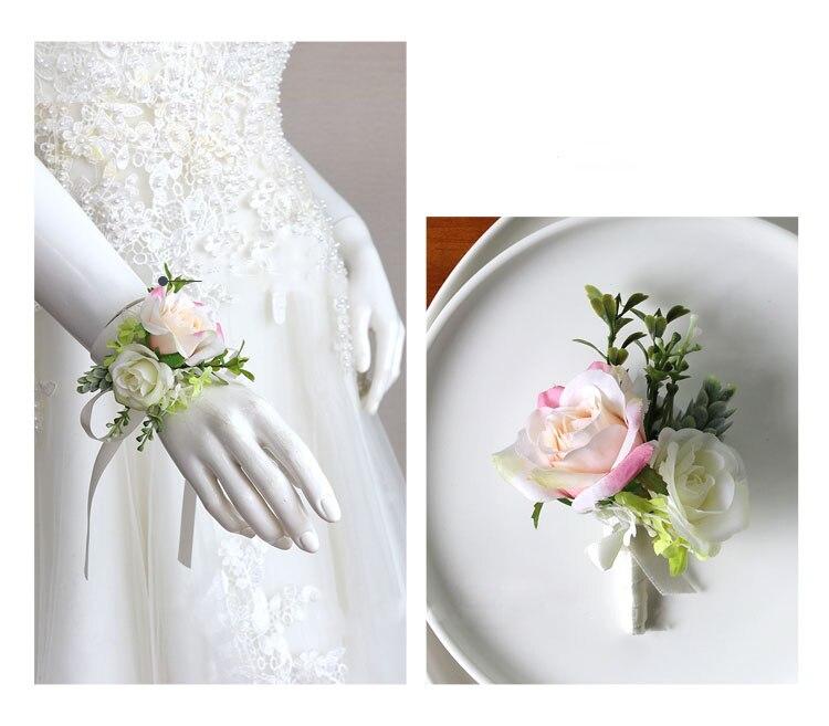 wedding boutonniere wrist corsage marriage  (4)