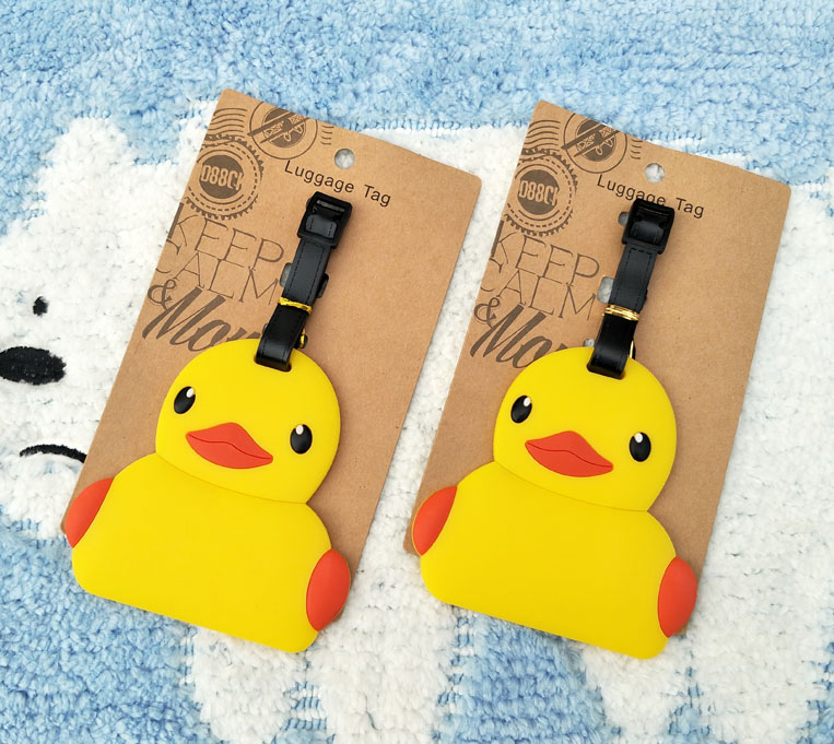Figures B Duck Decorative-Suitcase Anime Cartoon Toy Ornaments-Tags Luggage Gifts Action-Q