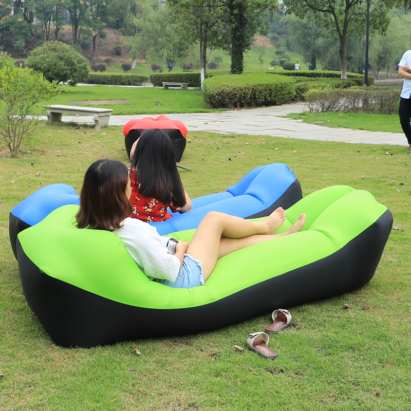Lawn Park camping mat waterproof Picnic mat Beach inflatable lazy bag air sofa bed moistureproof inflatable lounger mattress pad durable thicken pvc car travel inflatable bed automotive air mattress camping mat with air pump