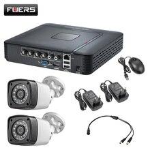 4.0MP 1520P 2 uds impermeable Cámara del CCTV 4CH 5in1 AHD DVR sistema de vigilancia de seguridad Video cámaras HDMI con 1TB HDD de 2TB DIY