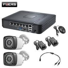 4.0MP 1520P 2PCS Waterproof Camera CCTV 4CH 5in1 AHD DVR Surveillance Security System Video CCTV HDMI With 1TB 2TB HDD DIY Set