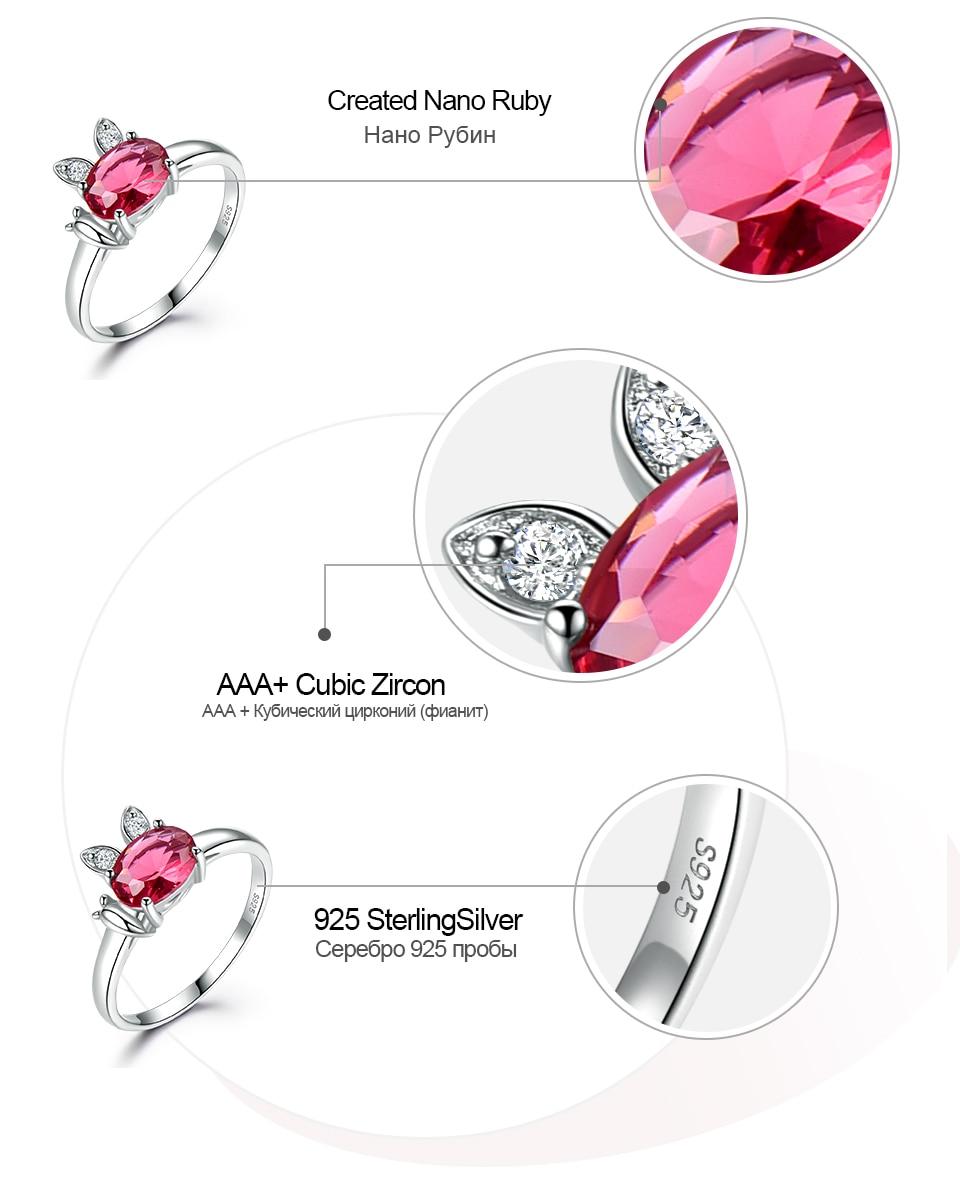 Honyy  Ruby 925 sterling silver rings for women RUJ088R-1-PC (7)
