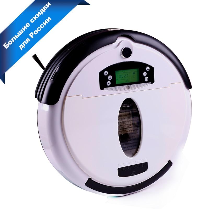 (Free to Rússia) Robot Vacuum Cleaner, Multifuncionais (Vacuum, Varredura, Mop, Sabor), tela LCD, Virtual Bloqueador, Schedule, SelfCharge
