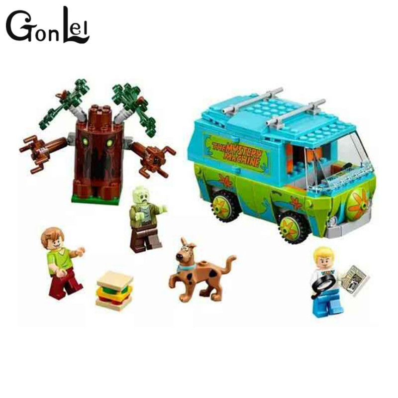 GonLeI Original BELA 10430 Compatible Lepin Scooby Doo Block The Mystery Machine 75902 Building Bricks Toys For Children compatible lepin city block police dog unit 60045 building bricks bela 10419 policeman toys for children 011