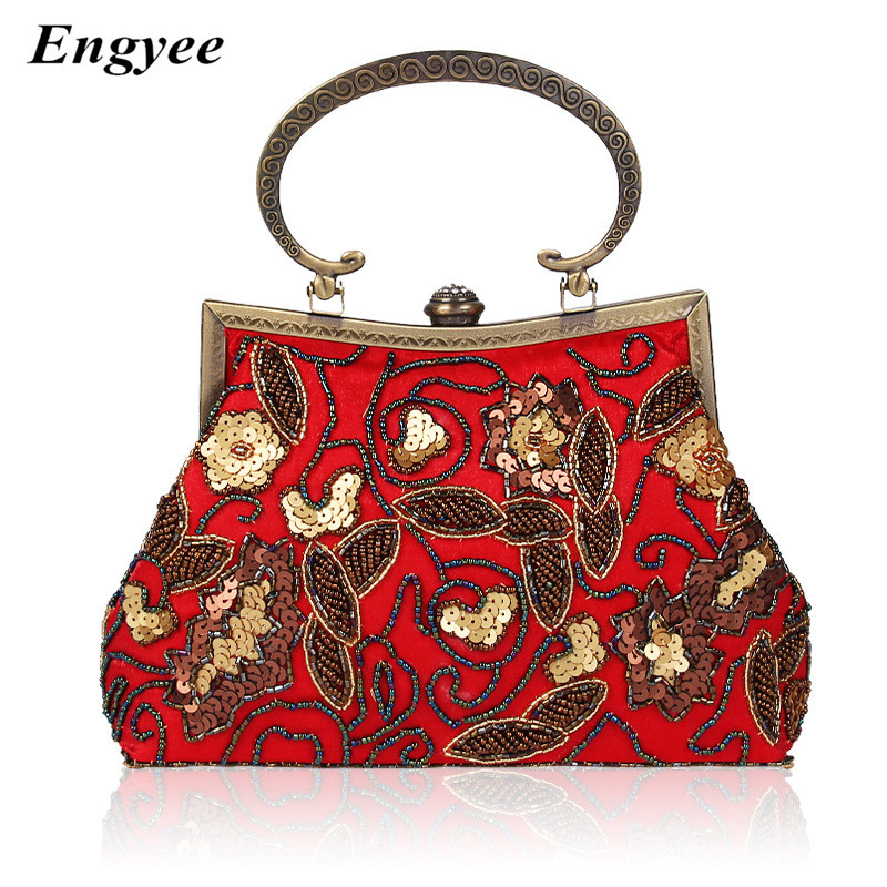 ENGYEE Paillet Evening Clutch Bags Women Beaded Day Clutches Vintage Purses And Handbags Luxury Small Ladies Tote Bag Bolsas стоимость