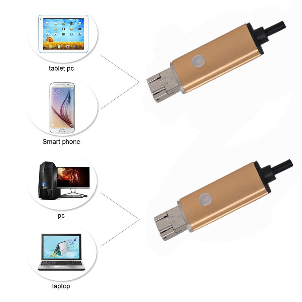 JCWHCAM 7 mm Len 10M kábel USB Endoszkóp 6 LED hordozható Android - Biztonság és védelem - Fénykép 2