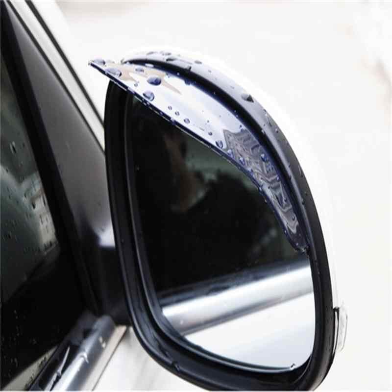 Yeni 1 ADET Araba dikiz aynası Yağmur Bıçakları Araba ayna Kaş yağmur kılıfı Ford Focus 2 için 3 Hyundai Solaris Mazda Araba araba-styling