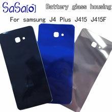 10 sztuk/partia drzwi baterii zamiennik obudowy do telefonu Samsung Galaxy J4 + j4 plus J415F J6 + Plus J610F powrót szkło pokrywa obudowy