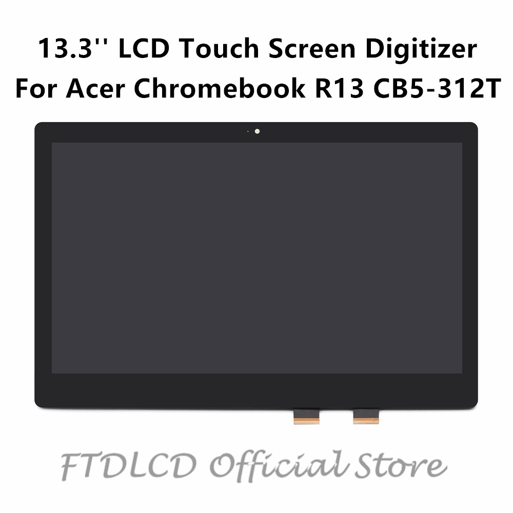 FTDLCD 13 3 FHD LCD Touch Screen Digitizer Assembly NV133FHM N42 LP133WF2 SPL7 For font b
