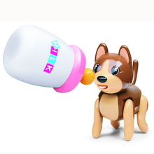 Buy Baby Sucking Pet Cat Dog  Tongue Stick Out Drink Milk Bottle Children Puzzle Early Education Children toys 777-263 FSWOB directly from merchant!