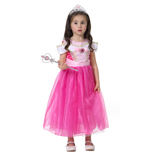 5da5fe8b The Little Mermaid Dress Girls Dresses Summer 2017 Kids Ariel Cosplay Costume  Children Clothing Kids Cartoon Clothes Ariel Dress