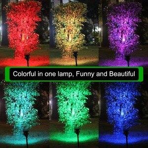 Image 4 - Binval 7 Led Solare Faretti Regolabili Cambia Colore Impermeabile Giardino Lampada di Prato Paesaggio Spot Luci Portico Luce