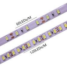 Cinta de luz led Flexible SMD 120 5630, 60/5730 leds/m, 5M, no impermeable, ip20, 10mm, PCB, blanco, blanco cálido, DC12V