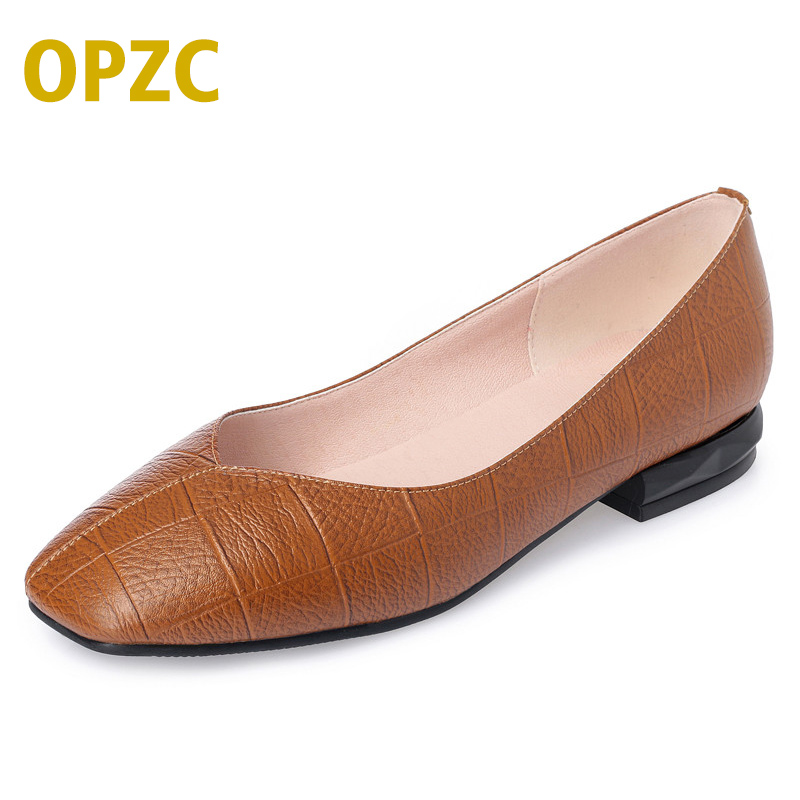 OPZC Spring Summer Ladies Shoes Ballet Flats Women Flat Shoes Woman Ballerinas Casual Shoe Sapato Womens Loafe Plus size drfargo spring summer ladies shoes ballet flats women flat shoes woman ballerinas pointed toe sapato womens waved edge loafer