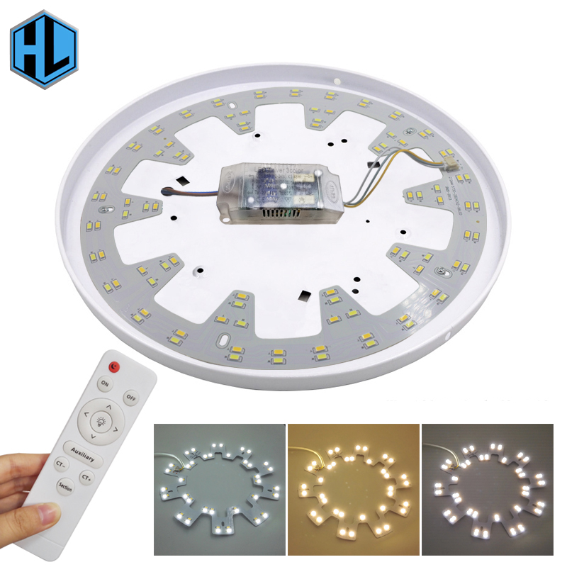 24-36W LED ceiling light lighting fixtures indoor home bedroom three color temperature 5730SMD infrared stepless remote control