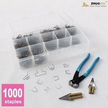 1000 Hot Staples 0.6mm & 0.8mm-Melt Knife – Nail Cutter, for Plastic Stapler Repair Kits Welders (HS-013X)