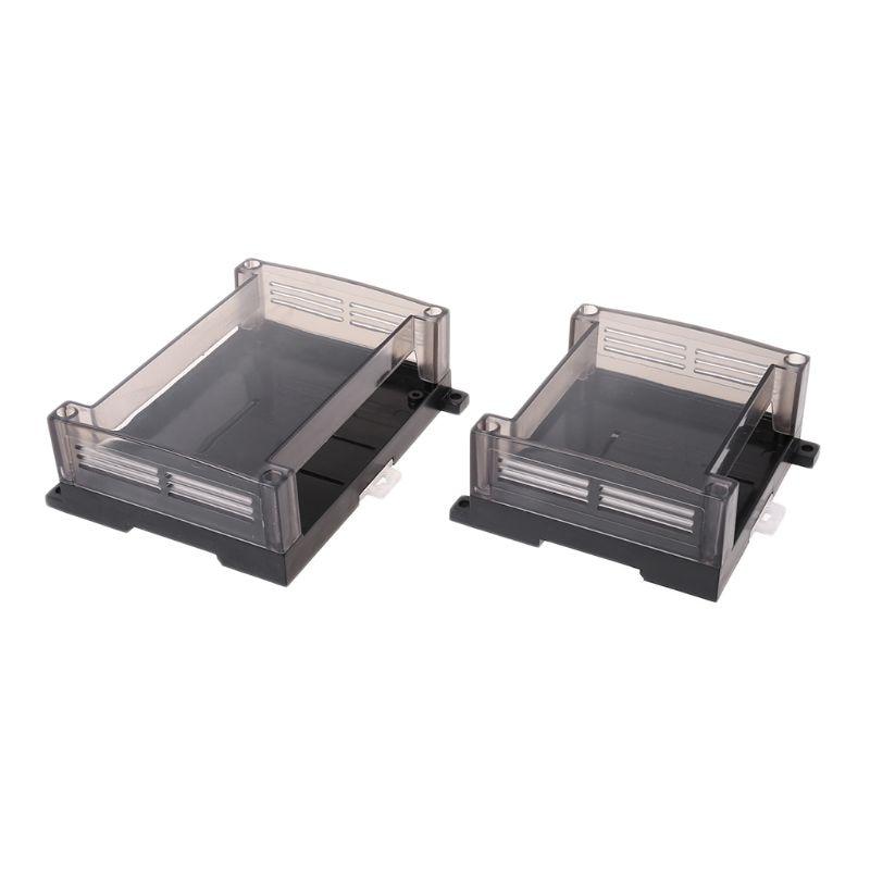 Transparent Plastic PLC Industrial Control Box Panel PLC Enclousure Case DIY PCB ShellTransparent Plastic PLC Industrial Control Box Panel PLC Enclousure Case DIY PCB Shell