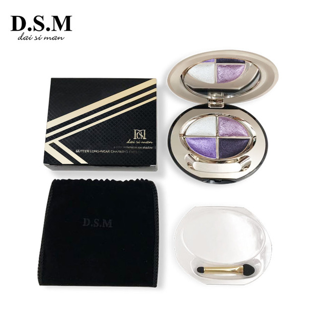 D.S.M Brand New Mineralize Eye Shadow 4 Colors Waterproof Eyeshadow Makeup Metallic Luminous Perfect Shades Eyeshadow Palettes 3