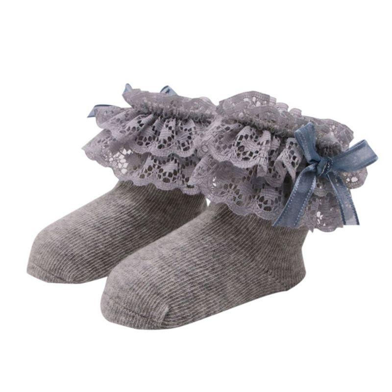 Новая мода Лидер продаж детские кружевные хлопковые носки для маленькой принцессы носки для новорожденных Мягкие носки 1 пара 0-12 м