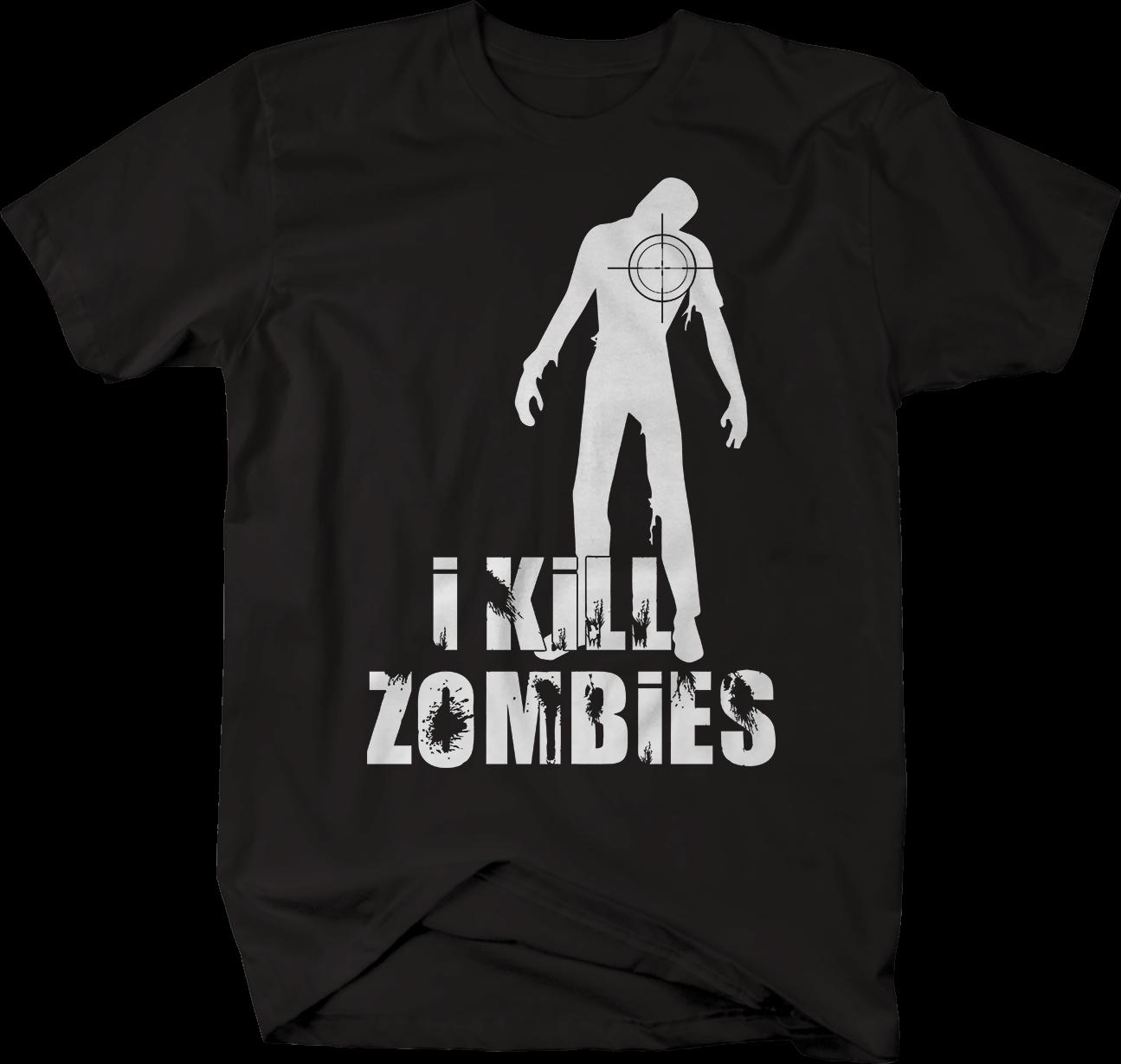 I Kill Zombies Hunting Walkings camiseta divertida camisetas para hombre