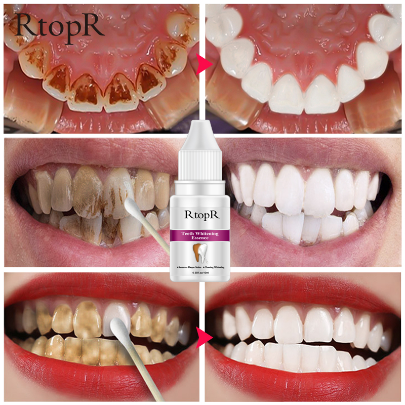 Teeth Oral Hygiene Essence Whitening Essence Daily Use Effective Remove Plaque Stains Cleaning Product teeth Cleaning Water 10ml(China)