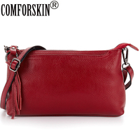 New Arrival Luxurious Cowhide Leather European American Tassel Sytle Feminina Designer Single Strap Women Messenger