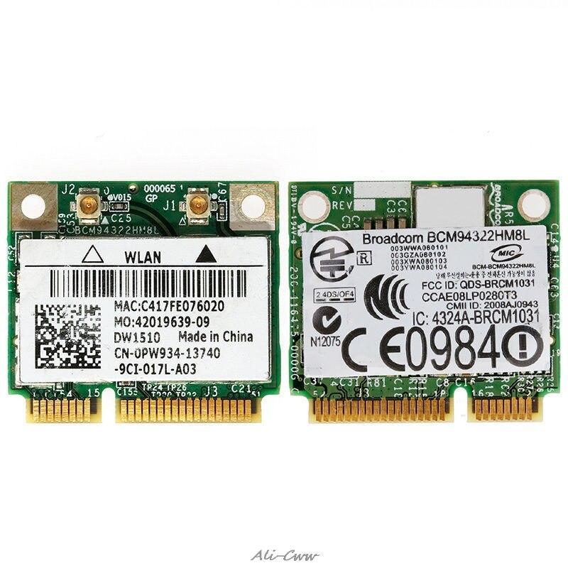 Mini PCI-E BCM94322HM8L DW1510 Dual Band 300M Wireless Card For DELL E5500 E4200