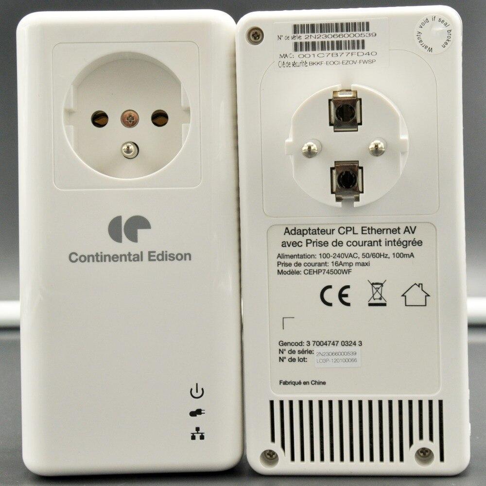 Prix pour UE Plug Gigabit Ethernet Port 500 Mbps PowerLine Adaptateur Extender HomePlug AV CPL PLC Adaptateur de Ligne électrique pour iPTV Qualcomm AR7400