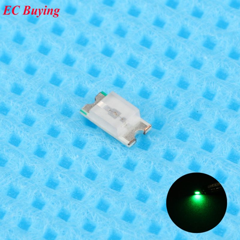 100pcs 0603 (<font><b>1608</b></font>) Yellow Green <font><b>LED</b></font> <font><b>SMD</b></font> Chip Bulb Lamp Surface Mount SMT Bead Ultra Bright Light Emitting Diode <font><b>LED</b></font> DIY image
