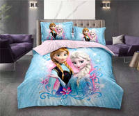 Frozen Elsa and Anna Princess bedding set twin size bed sheets duvet covers for girls room single bedspread coverlets 3d printed