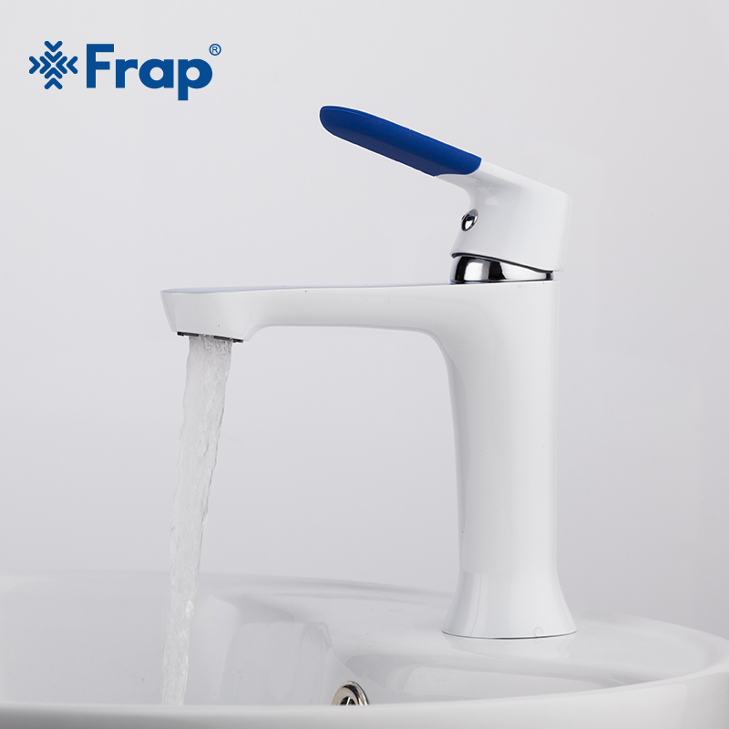 Frap Modern Style New bathroom Basin Faucet Deck Mounted bath Cold and Hot Water tap Mixer Multi Color Handle Cover F1034 frap colorful handle rubber cover shower faucet cold and hot water single handle with shower bar and basin faucet f1034 f2434