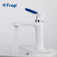 Modern Style New Arrival Basin Faucet Deck Mounted Cold And Hot Water Mixer Multi Color Handle