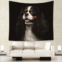 цены Smilling Chihuahua dog cute pets print Indian tapestry hippie mandala wall hanging Bohemian bedspread dorm decor tapestry GA12