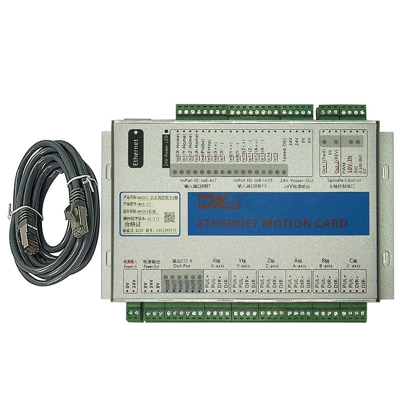 Port Ethernet Mach3 carte de contrôle de mouvement 3-6 axes MK3 MK4 Mk6 bricolage CNC fraiseuse pièces outils